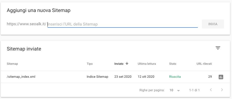 Favorire l'indicizzazione inviando la Sitemap XML attraverso Google Search Console